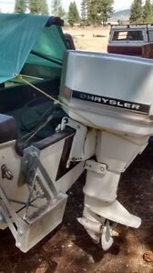 1970's 55 HP Chrysler Outboard.. Running OR Not