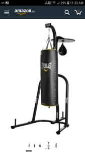 Punching bags and stand