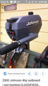 Johnson 4hp outboard  year 2000
