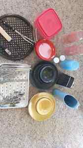 Assorted camping kitchen ware