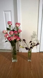 moving sale #5 2 glass vases