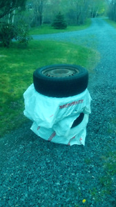 4 Winter tires with rims for sale. All 4 $100.00!