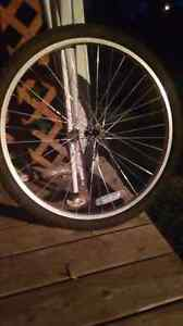 1 Bike rim with tire ,tube and 1 without tire etc