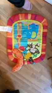Bright starts monkey tummy time mat