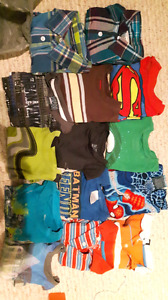 Size 4 boys t-shirts, tanks and golf shirts