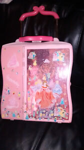 Suitcase, barbies and pony $5 all