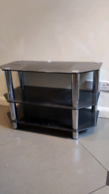 Black glass TV table stand FREE