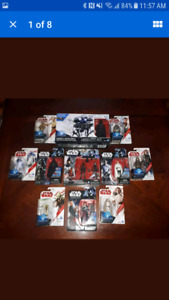13 Star Wars figures still in the box toy