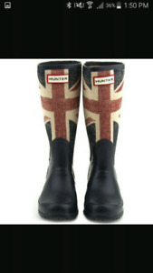 Looking for union jack hunter boots size 8