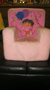 Dora Pink Plush Chair
