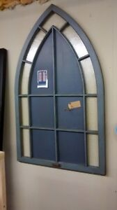 Antique Gothic Window Chalk Board. ON SALE
