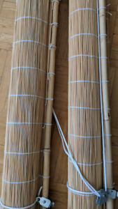 Bambo rollup blinds x2