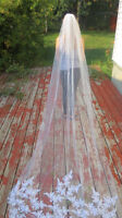 Selling stunning crystal beaded cathedral wedding veil
