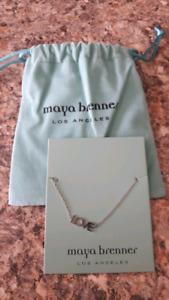 """Silver """"Love"""" Bracelet by Maya Brenner Designs - NEW"""