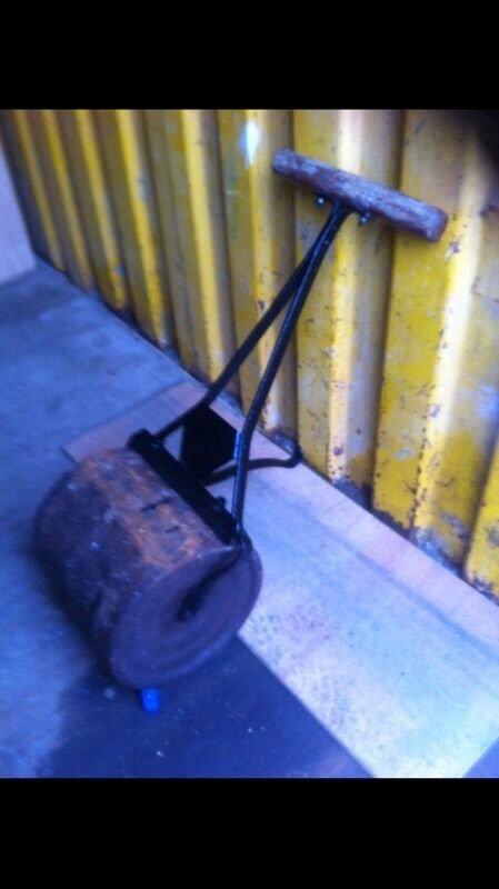 Antique garden roller
