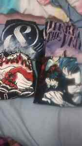 Band and anime shirts