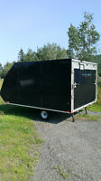 2015 avalance by forest river 2 place snowmobile/atv enclosed