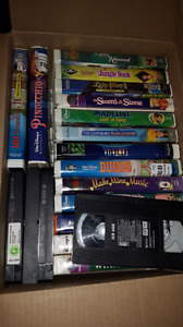 72 VHS tapes and VCR