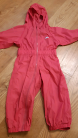Trespass puddle all in one waterproof suit - age 18-24 months