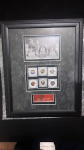 NHL FRAMED LIMITED EDITION COLLECTORS STAMPS! 60$ OBO!