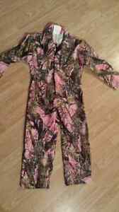 Brand New Girls PINK Camo Coveralls