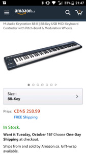 M-Audio Keystation 88 II | 88-Key USB MIDI Keyboard
