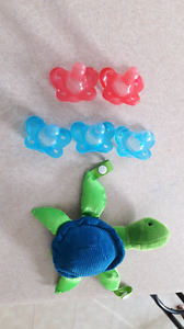 Dr. Browns Soothers and Teddy to Clip Soother on