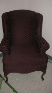Wingback chair & outside chairs