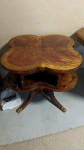 Burled Walnut side table
