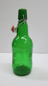 Vintage Grolsch Green Beer Bottles