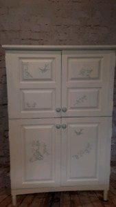 REDUCED! Solid Wood Painted Armoire