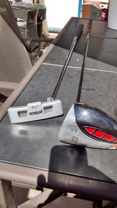 Mens left handed Prince #1 driver and putter