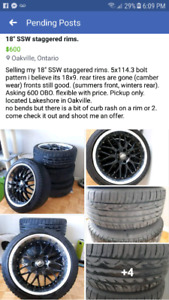 """18"""" SSW Staggered Rims 5x114.3"""