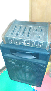 Trade speaker,mixer,mic stand and filter