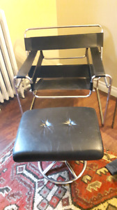 Mid century modern chair and stool