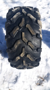 Two used ATV tires (different sizes)