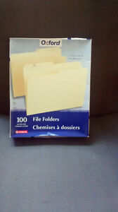 Letter Size file folders - new