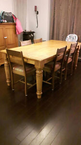 Kitchen table plus 6 chairs