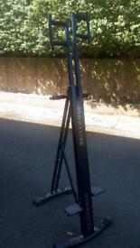 Vertical stepper / climber exercise bike