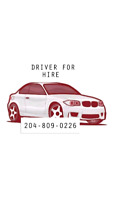 Driver for hire and friendly service.