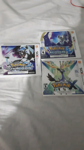 (Good condition) Pokemon 3ds games