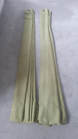 Dunlem mill green curtains 168 cm wide, drop is 217 cm
