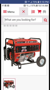 King 6500 watt generator. (Exactly as pictured) 1.5 years old. M