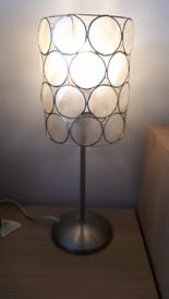 Table lamp. Capiz shell shade x 2