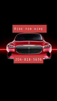 Ride for hire day or night 204-818-5636....