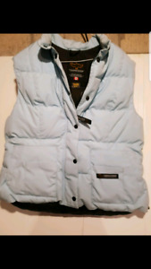 WOMANS XL CANADA GOOSE  LIGHT BLUE  DOWN VEST