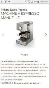 Cafetière expresso Seaco Poemia HD8327/47