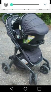 City lux black stroller and carseat