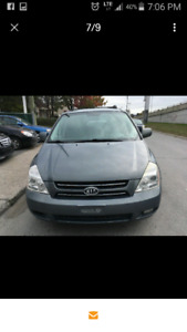 KIA SEDONA 2007 8 tires winter tires already installed