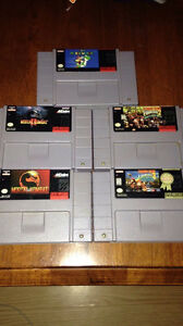 SNES Games Great Condition